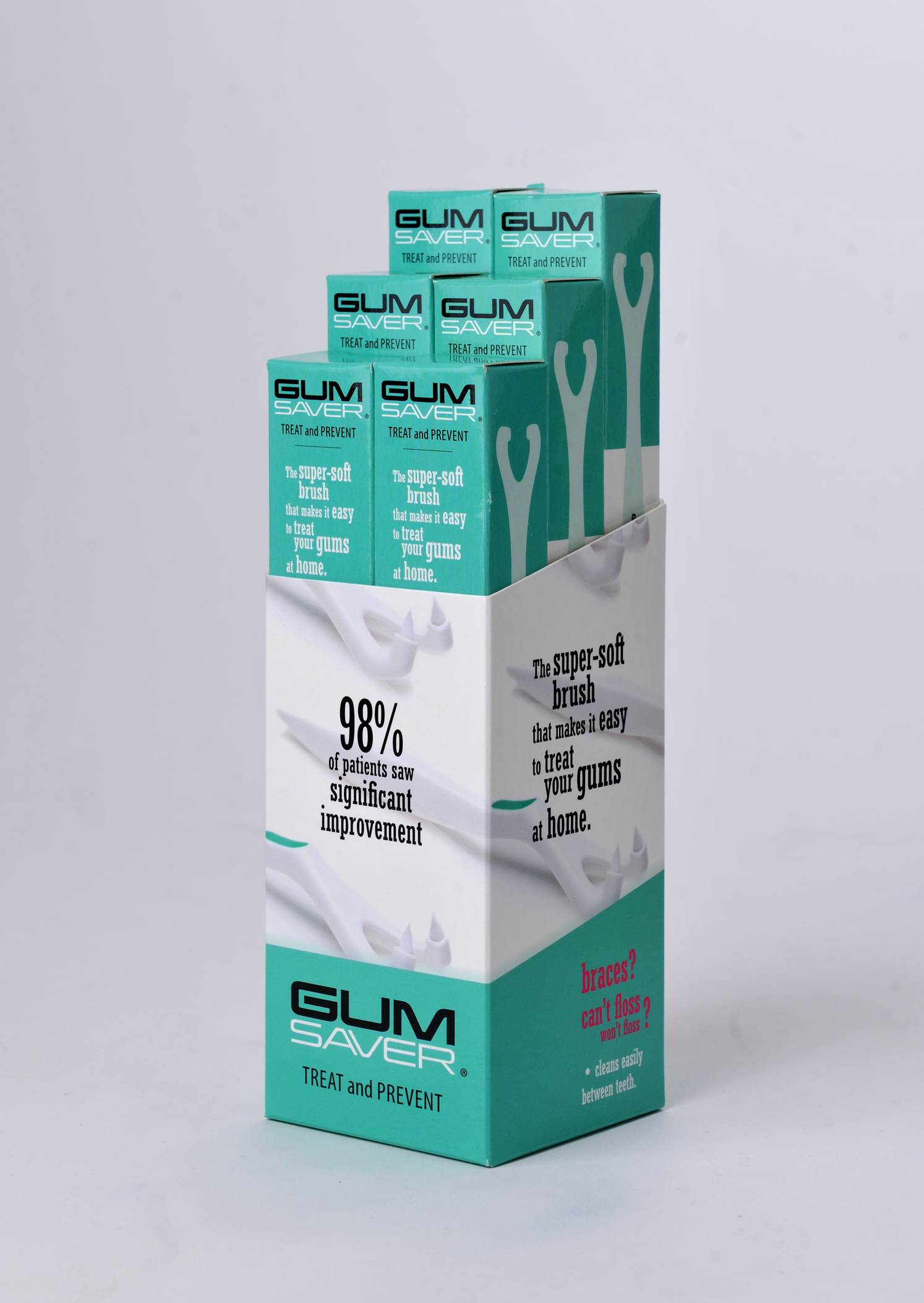 gumsaver packaging design 6 pack design